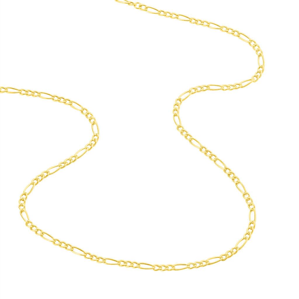 Chaîne Esra Maille Alternee 1/3 Or Jaune - Colliers Naissance Enfant | Histoire d'Or