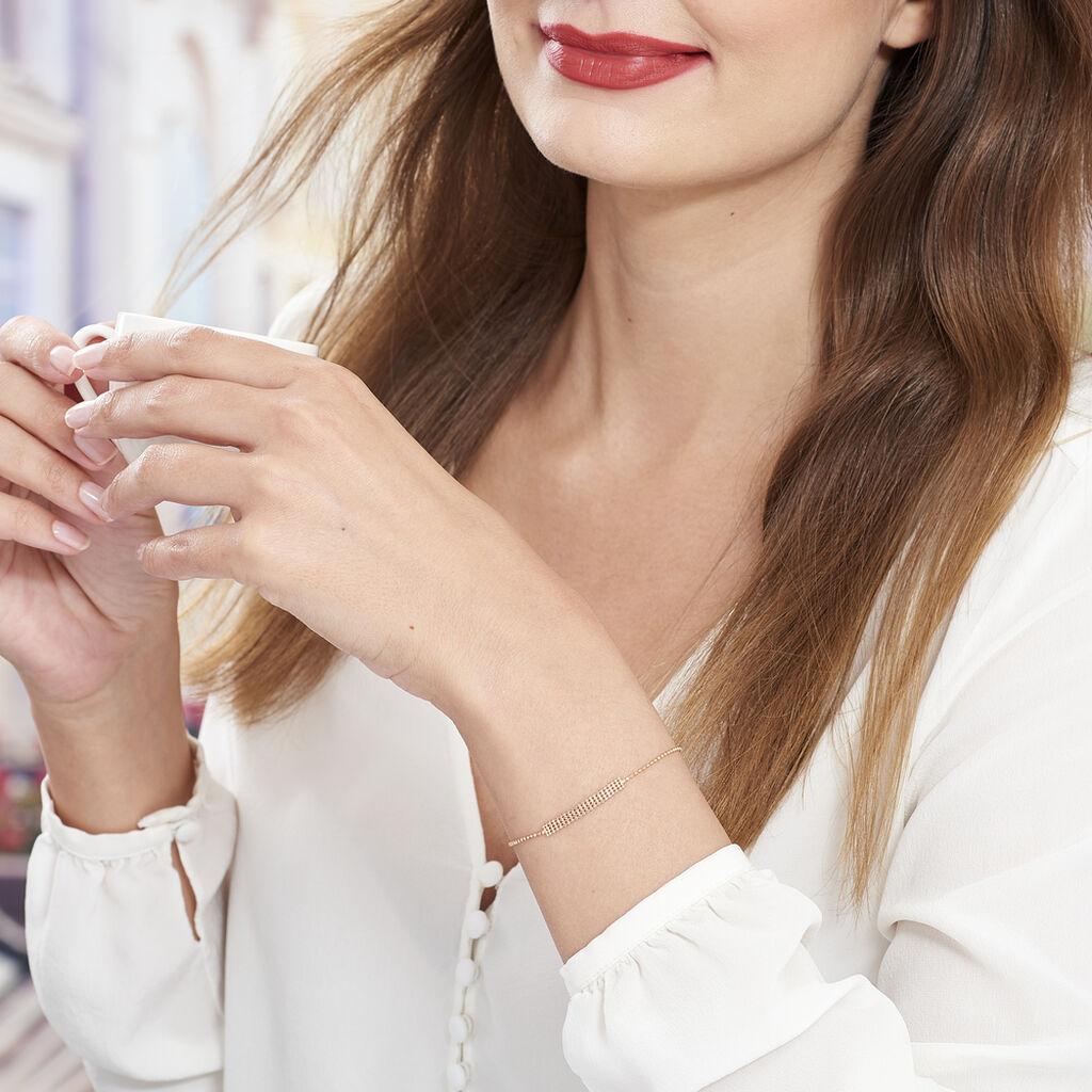 Bracelet Capucine Argent Rose - Bracelets fantaisie Femme   Histoire d'Or