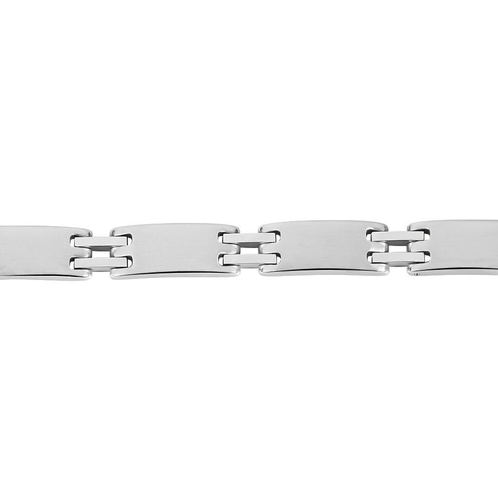 Bracelet Jonathan Acier Blanc - Bracelets fantaisie Homme   Histoire d'Or