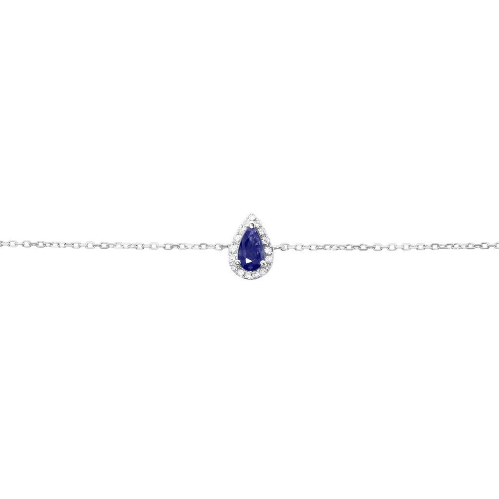 Bracelet Juliettina Or Blanc Saphir Et Diamant - Bijoux Femme   Histoire d'Or
