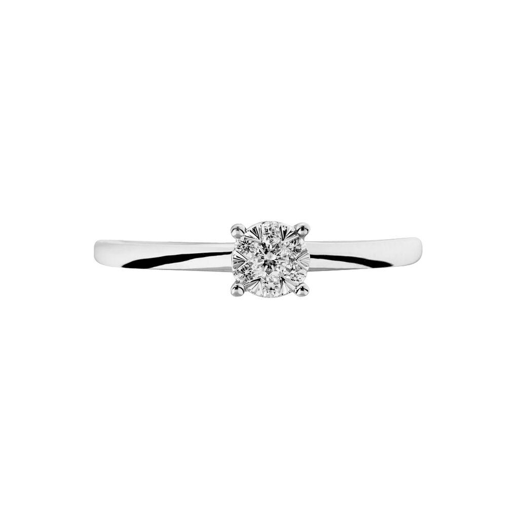 Bague Dream Or Blanc Diamant - Bagues avec pierre Femme   Histoire d'Or
