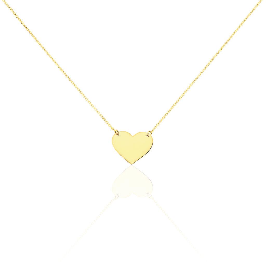Collier Helenia Coeur Gravable Or Jaune - Colliers Coeur Enfant   Histoire d'Or