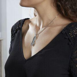Collier Tia Acier Blanc - Colliers Plume Femme   Histoire d'Or