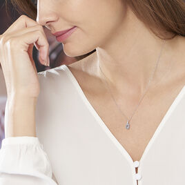Collier Audea Or Blanc Topaze Et Oxyde De Zirconium - Bijoux Femme | Histoire d'Or