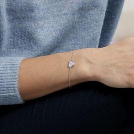 Bracelet Laetizia Clara Argent Blanc Oxyde De Zirconium - Bracelets fantaisie Femme | Histoire d'Or