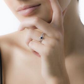 Bague Tanissia Or Blanc Saphir Et Diamant - Bagues solitaires Femme | Histoire d'Or