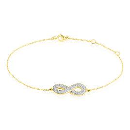 Bracelet Or Jaune Mariquita Infini Oxydes De Zirconium - Bracelets Infini Femme | Histoire d'Or