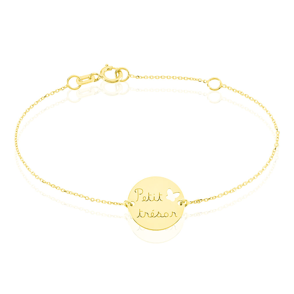 Bracelet Benedicte Message Or Jaune - Bracelets Naissance Enfant | Histoire d'Or