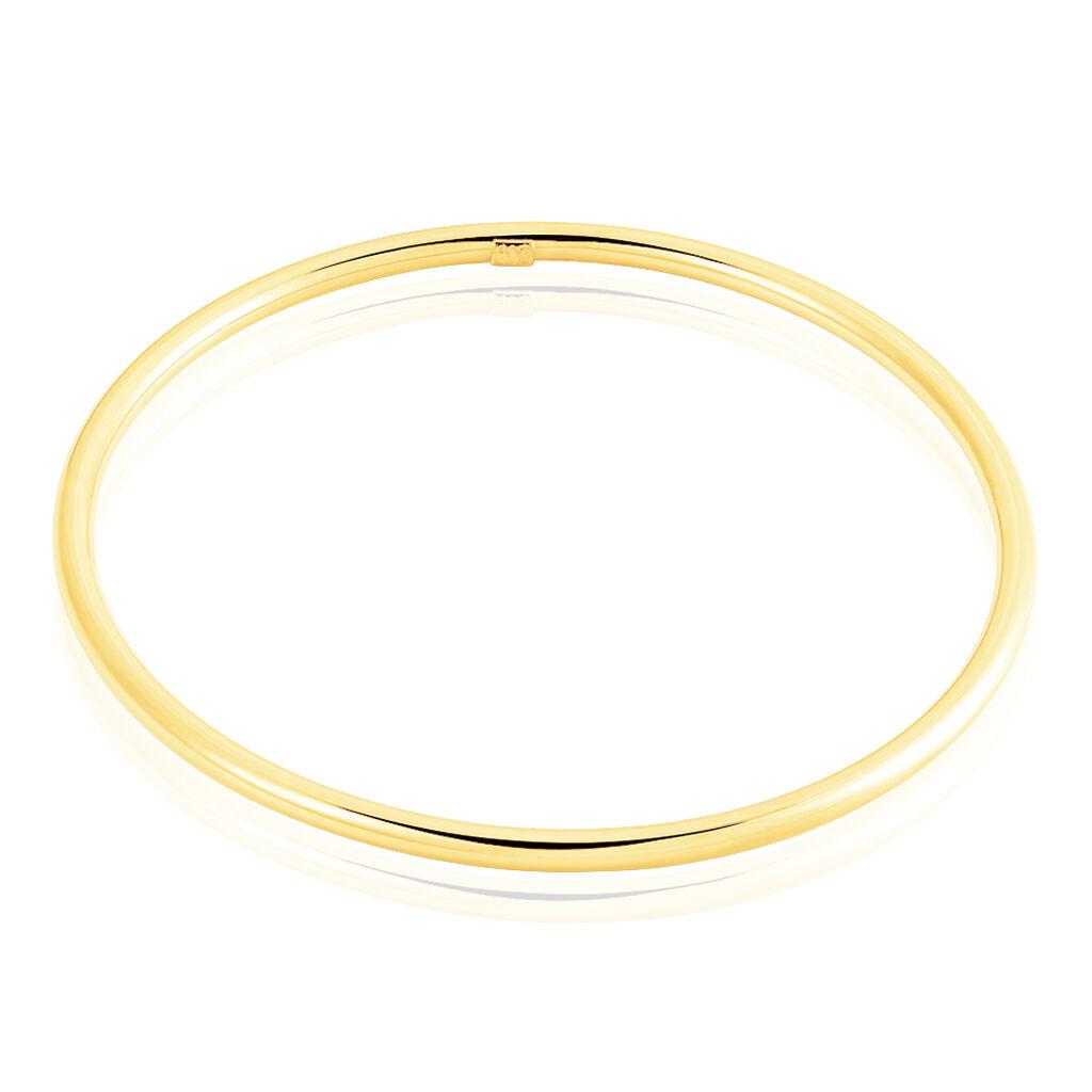 Bracelet Jonc Cynthia Fil Rond Lisse Or Jaune - Bracelets joncs Unisexe   Histoire d'Or