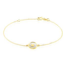 Bracelet Or Jaune Micarla Nacre Trefle - Bracelets Naissance Enfant | Histoire d'Or