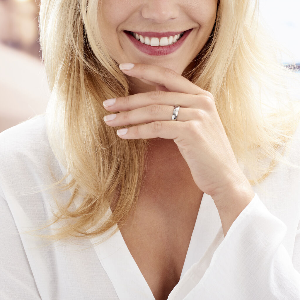 Alliance Apollos Demi Jonc Confort Palladium Blanc - Alliances Femme | Histoire d'Or