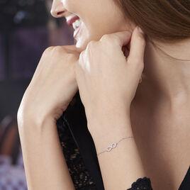 Bracelet Klothilda Or Blanc Oxyde De Zirconium - Bracelets Infini Femme   Histoire d'Or