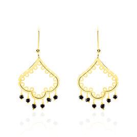 Boucles D'oreilles Pendantes Aysha Or Jaune Oxyde De Zirconium - Boucles d'oreilles pendantes Femme   Histoire d'Or