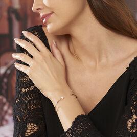 Bracelet Jonc Akin Or Jaune Perle De Culture - Bracelets joncs Femme   Histoire d'Or