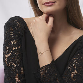 Bracelet Alexandra Plaque Or Jaune Oxyde De Zirconium - Bracelets Coeur Femme | Histoire d'Or