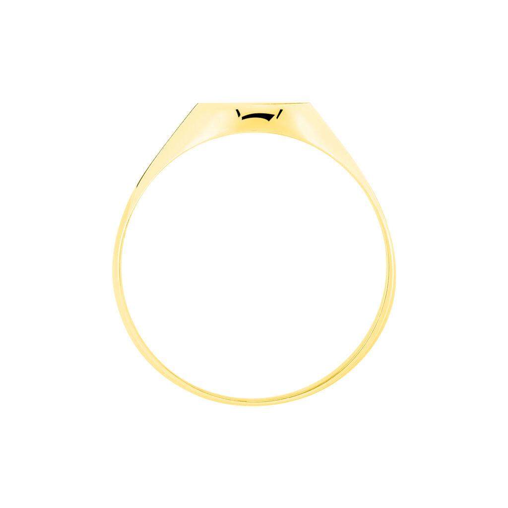 Chevalière Ovale Diamantee Soleil Or Jaune - Chevalières Famille   Histoire d'Or