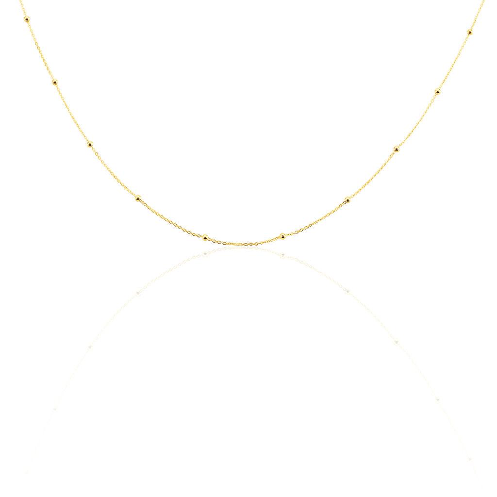 Collier Petites Boules Or Jaune - Bijoux Femme   Histoire d'Or