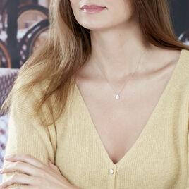 Collier Hildana Or Blanc Oxyde De Zirconium - Bijoux Femme   Histoire d'Or
