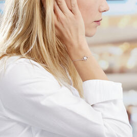 Bracelet Laetizia Fleur Argent Blanc Oxyde De Zirconium - Bracelets fantaisie Femme | Histoire d'Or