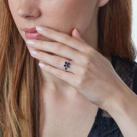 Bague Or Blanc Saphir Et Diamant - Bagues avec pierre Femme | Histoire d'Or