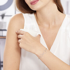 Bracelet Jonc Infini Argent Blanc - Bracelets Infini Femme | Histoire d'Or