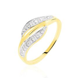 Bague Calypso Or Jaune Diamant - Bagues avec pierre Femme   Histoire d'Or