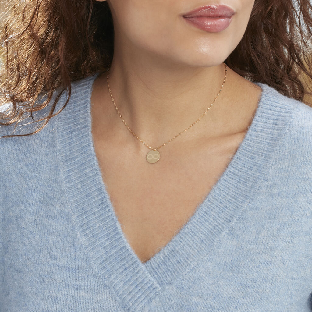 Collier Elynna Infini Or Jaune - Colliers Infini Femme | Histoire d'Or