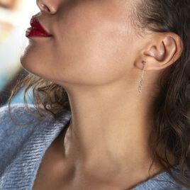 Boucles D'oreilles Pendantes Argent Rhodié Maic - Boucles d'Oreilles Plume Femme   Histoire d'Or