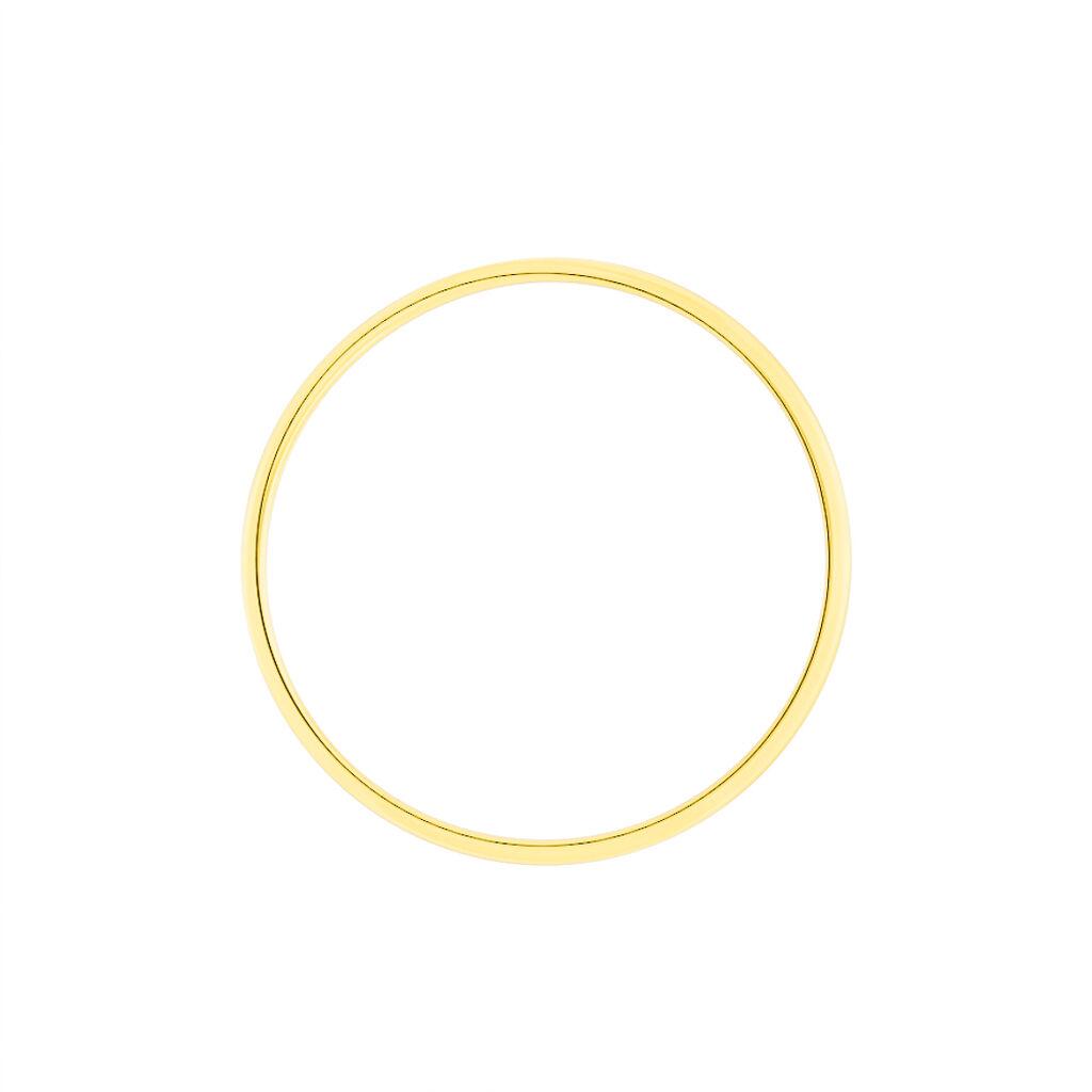 Alliance Julie Or Jaune Ruban Classique - Alliances Unisexe | Histoire d'Or
