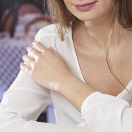 Bracelet Pastille Or Blanc Sofia - Bijoux Femme | Histoire d'Or