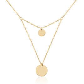 Collier Maro Plaque Or Jaune - Colliers double et triple chaines Femme | Histoire d'Or