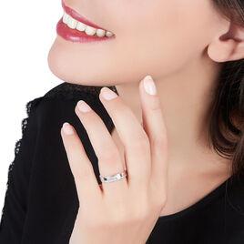 Bague Solitaire Maena Argent Blanc Oxyde De Zirconium - Bagues avec pierre Femme | Histoire d'Or