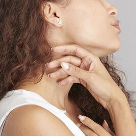 Boucles D'oreilles Puces Arroxa Or Blanc Diamant - Clous d'oreilles Femme | Histoire d'Or