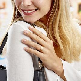Bague Artea Plaque Or Jaune Oxyde De Zirconium - Bagues solitaires Femme | Histoire d'Or