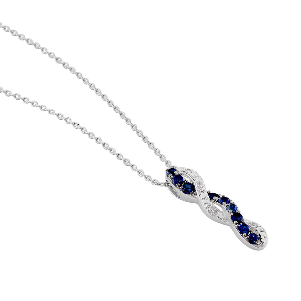 Collier Ligera Or Blanc Saphir Et Diamant - Bijoux Femme | Histoire d'Or