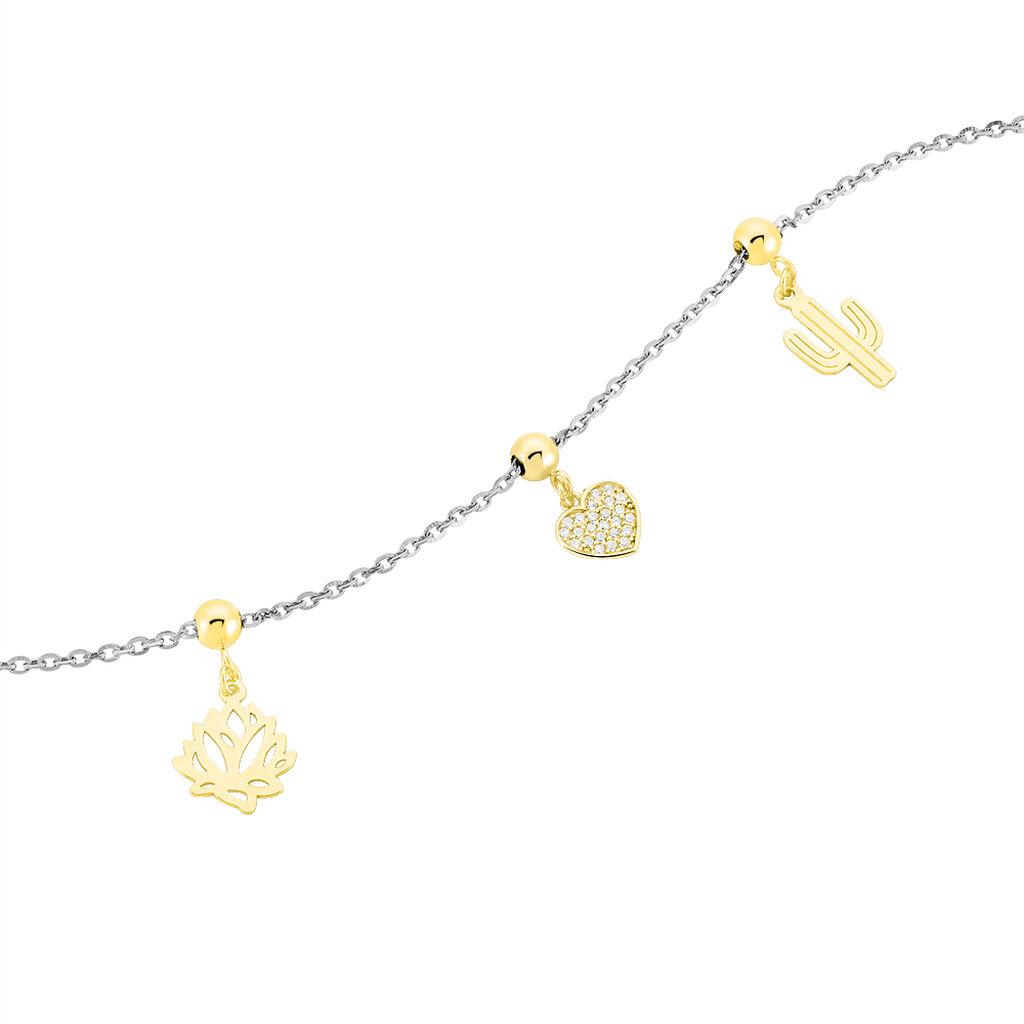 Charms Jennin Or Jaune Oxyde De Zirconium - Pendentifs Coeur Femme   Histoire d'Or