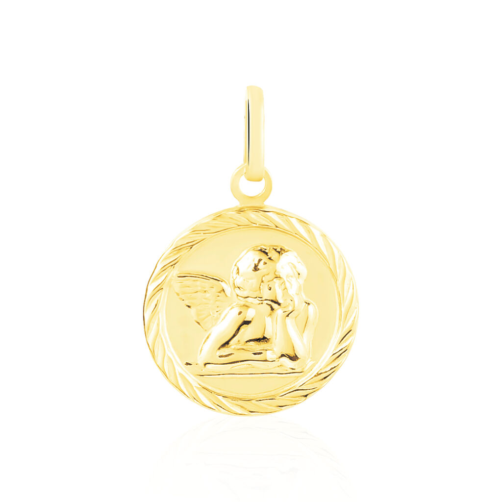 Pendentif Ange Rond Sable Or Jaune - Pendentifs Unisexe | Histoire d'Or