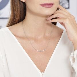 Collier Judith Argent Blanc Oxyde De Zirconium - Colliers fantaisie Femme | Histoire d'Or