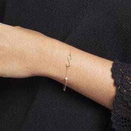 Bracelet Illenia Or Jaune Perle De Culture - Bracelets Infini Femme | Histoire d'Or