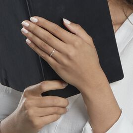 Bague Solitaire Laetitia Or Blanc Diamant - Bagues avec pierre Femme | Histoire d'Or