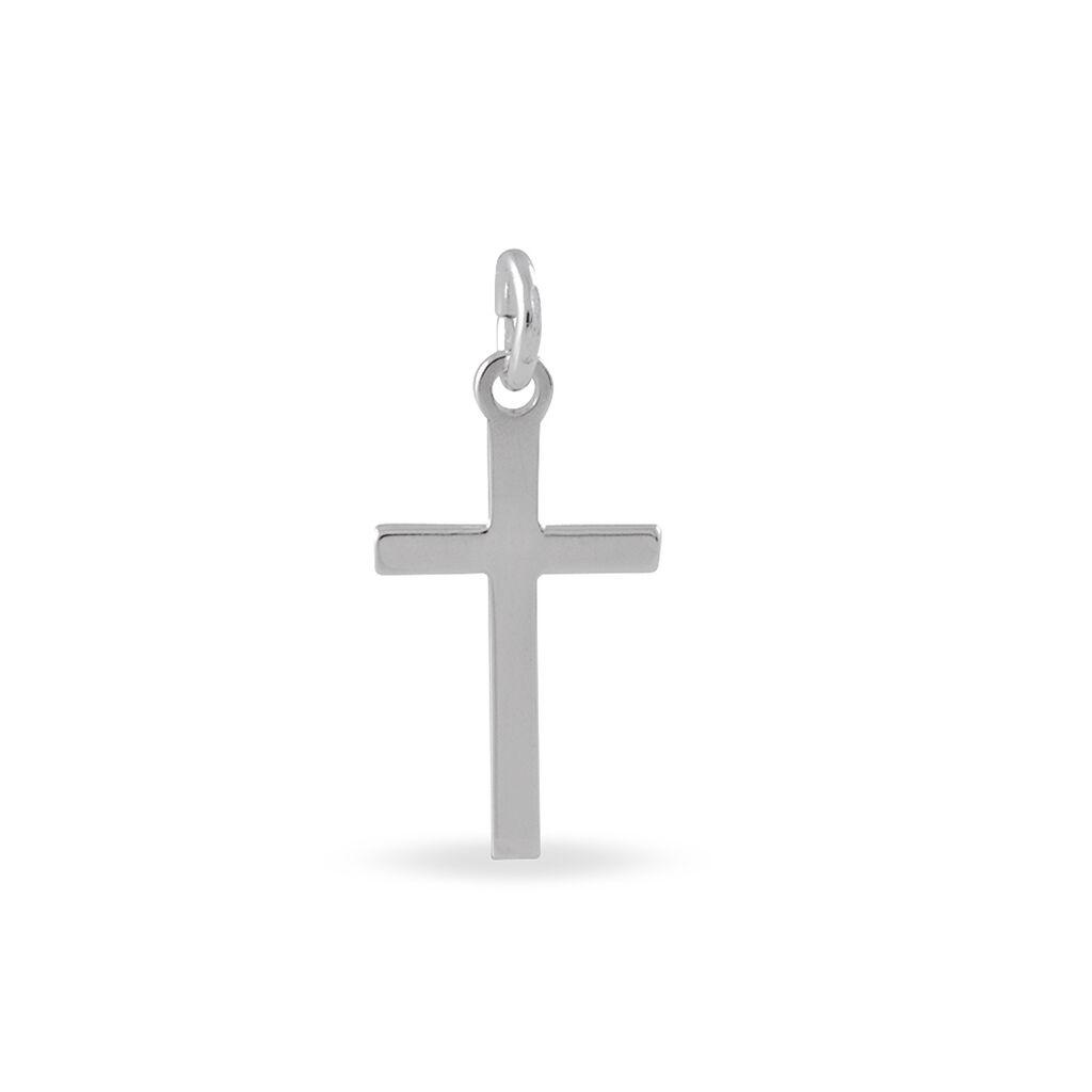 Pendentif Aisse Argent Blanc - Pendentifs Croix Famille   Histoire d'Or