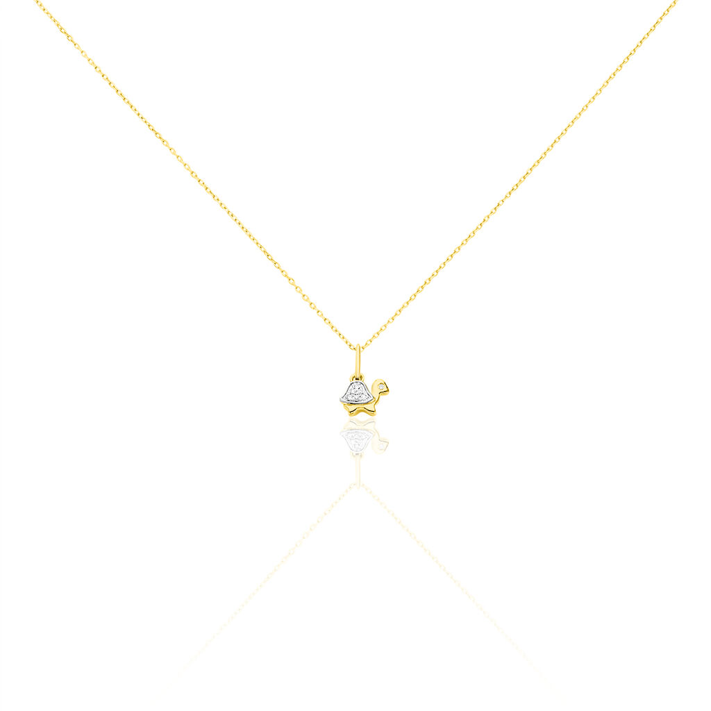 Collier Evaelle Tortue Or Jaune Diamant