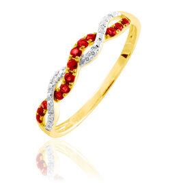 Bague Sofia Or Jaune Rubis Et Diamant - Bagues avec pierre Femme | Histoire d'Or