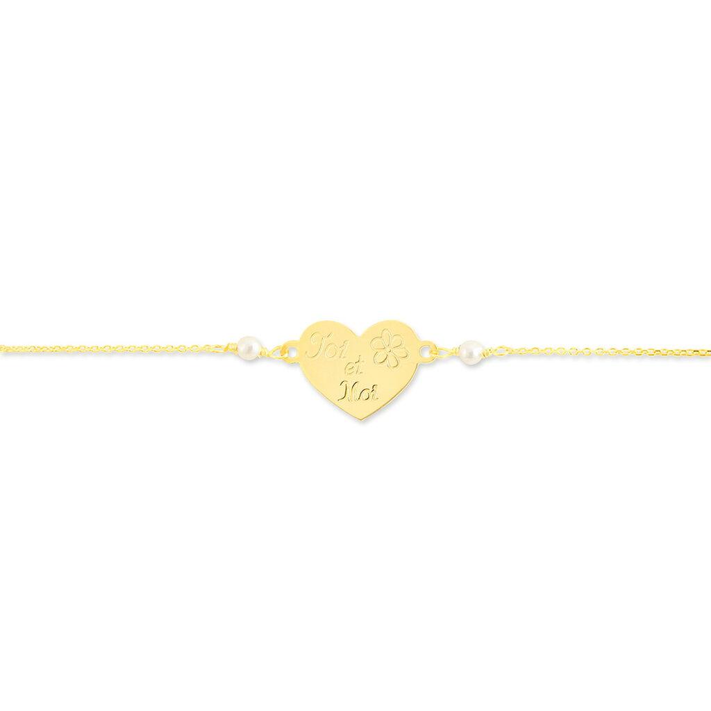 Bracelet Mahana Or Jaune Perle De Culture - Bracelets Coeur Femme | Histoire d'Or