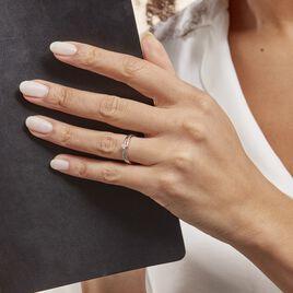 Bague Selene Or Blanc Diamant - Bagues solitaires Femme | Histoire d'Or
