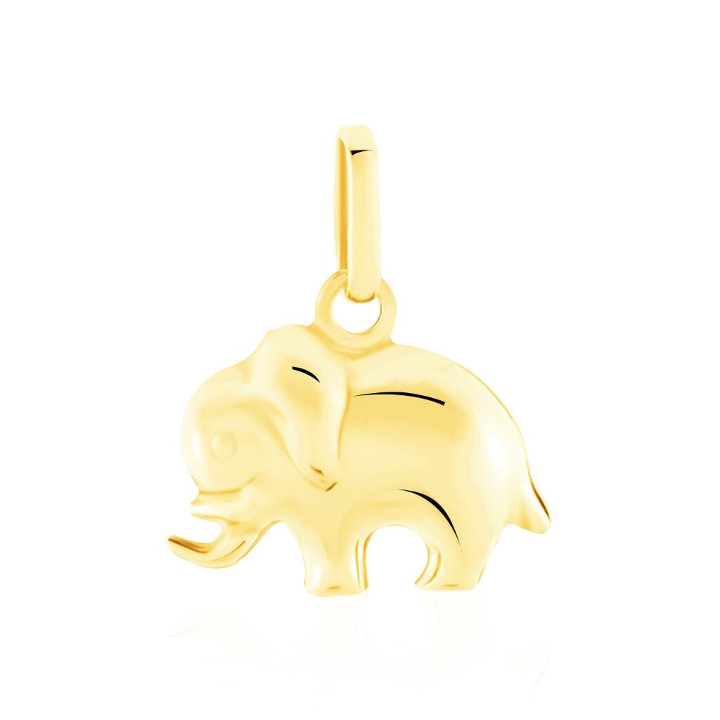 Pendentif Haiza Elephant Or Jaune - Pendentifs Unisex   Histoire d'Or