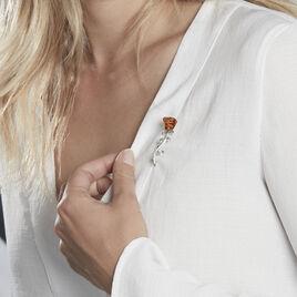 Broche Jorane Argent Blanc Ambre - Autres bijoux Femme   Histoire d'Or