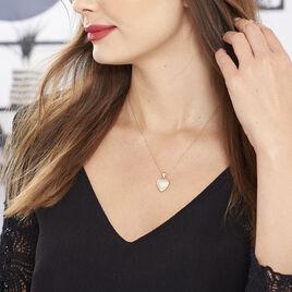 Collier Rhadijaae Plaque Or Jaune Oxyde De Zirconium - Colliers Coeur Femme | Histoire d'Or