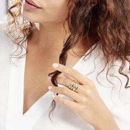 Bague Abram Acier Jaune - Bagues fantaisie Femme | Histoire d'Or