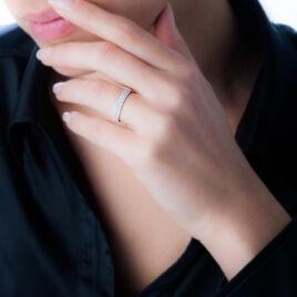 Bague Lison Or Blanc Oxyde De Zirconium - Bagues avec pierre Femme | Histoire d'Or